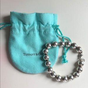 Tiffany &Co Sterling Silver Hardwear Ball Bracelet
